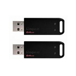 PENDRIVE 64GB USB2.0 KINGSTON DT20 PACK DE 2