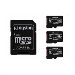 MEM MICRO SDXC 64GB KINGSTON CANVAS SELECT+ADAPT