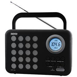 RADIO DIGITAL FM  USB SD DESPERTADOR DRP120
