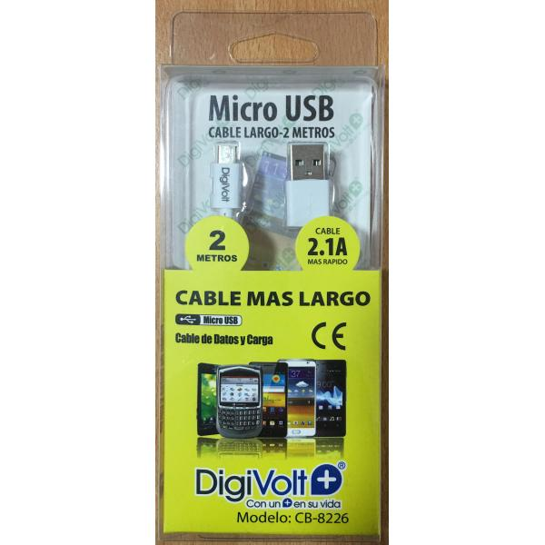 CABLE DE DATOS Y CARGA 2.1 A DIGIVOLT