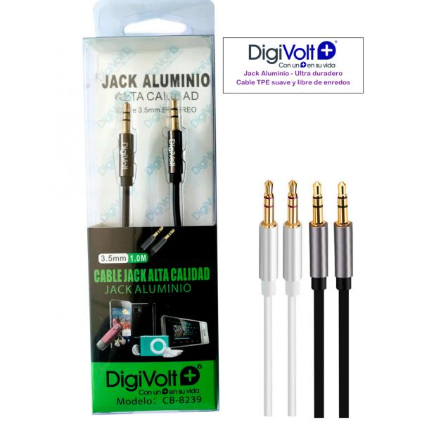 CABLE ALUMINIO JACK A JACK 3.5 MM.DIGIVO