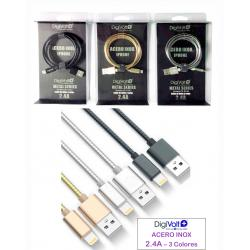 CABLE METAL SERIES PARA IPHONE 2.4 A DIG