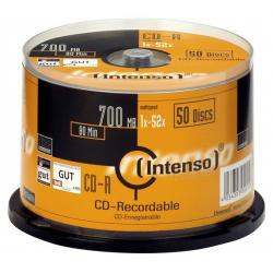 CD-R 80MIN/700MB 52X TARRINA 50 INTENSO