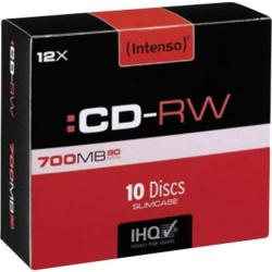 CD-RW 80MIN/700MB 12X SLIM BOX INTENSO
