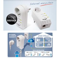 MINI POWERLINE ETHERNET CON ENCHUFE