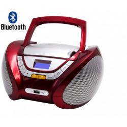 RADIO CD MP3 USB BLUETOOTH ROJO LAUSON