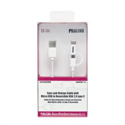 CABLE 1M. USBA A MICRO USB+ADAPT. TIPO C