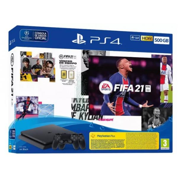 CONSOLA PS4 500GB+FIFA 21+DS4+PSN14DIAS