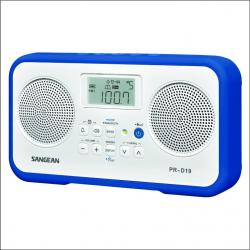 RADIO AM-FM DIGITAL RED SANGEAN