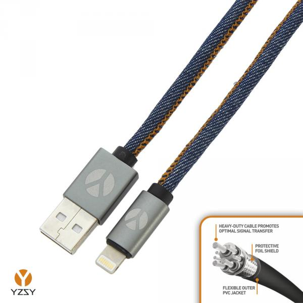 CABLE 1M IPHONE LIGHTNING JEANS YZSY
